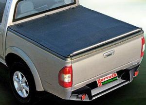 pickup soft tonneau cover speedy 2 black, rollable, Nissan Navara D40 4-door Mj. 06- / 10-, Loading area length 1511mm