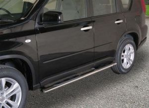 side bar stain-steel, with steps, oval, Nissan X-Trail My. 11-14