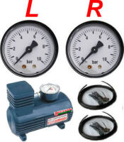 Compressor sets for air springs