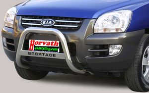 "bull bar stain-steel Typ "" U2-63"" dm= 63mm, Kia Sportage 04-08, optional with nameplate"