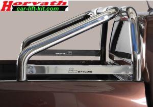 """Überrollbügel Typ """"L2"""" Dm =76 mm, Edelstahl poliert oder Schwarz, Toyota Hilux 06-"""