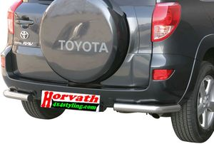 Angular Rear Protections stain-steel polished, DM= 76mm,  Toyota Rav4 XA3 06-09