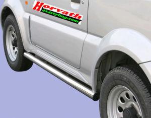 Seitenrammschutz Edelstahl hochglanzpoliert, DM=63mm, Suzuki Jimny 06-12