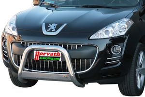 """bull bar stain-steel Typ """" U2-63"""" dm= 63mm, Peugeot 4007 07-, optional with nameplate"""