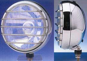 Fernscheinwerfer Edelstahl poliert  Dm= 155mm, 12 oder 24V, mit zusätzlichen Positionslicht