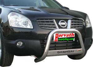 """Rammschutz Edelstahl Nissan Qashqai 06- Typ """"U2-63"""" Dm= 63mm, wahlweise mit Schriftzug"""