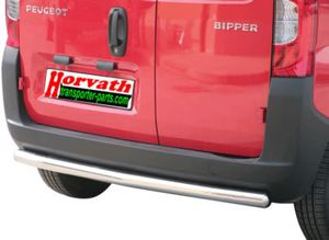 Heckrammschutz Edelstahl hochglanzpoliert Dm= 63mm, Peugeot Bipper 03/08-