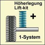 Höherlegungs-Niveaufedern +24mm (LPG Kit) Citroen C-Crosser 4WD Bj.: 03.07-