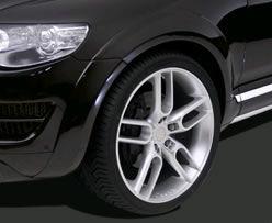 Formverbreiterung PU-Rim, 12-teilig, VW Touareg Typ 7L, R5 / V6 / V8 / V10  Bj. 07-09, nicht für Modell R-line