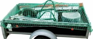 Cargo load safety device net 1.2 x 1.6 m (for euro-pallet size) mesh size 100 mm, cord strength 6 mm, DEKRA-certifies