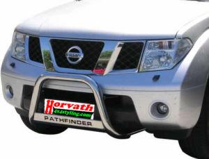 """Rammschutz Edelstahl Typ """"U2-63"""" Dm= 63mm, Nissan Pathfinder R51 05-, wahlweise mit Schriftzug"""