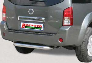 Heckstoßstange Edelstahl hochglanzpoliert, DM=76mm, Nissan Pathfinder R51 05-
