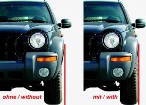 "Spurverbreiterungen (4x) Jeep Grand Cherokee WJ/WG 99-05, Lochkreis 5/127/71,6 Verschraubung 0,5"" UNF"