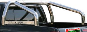 """Überrollbügel Typ """" L2"""" Dm =76 mm, Edelstahl, Mitsubishi L200 4WD 4-türig Bj.: 93-06, wahlweise mit Schriftzug"""