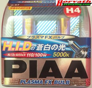 H4 PIAA Hochleistungsglühlampen, mehr Licht durch ein blau-weißes, helles Licht (ohne Straßenzulassung)