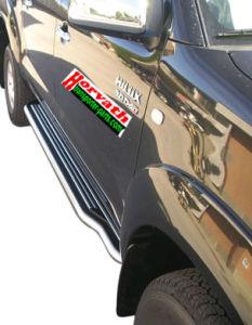 Trittbrett Edelstahl, DM= 50mm, Toyota Hilux 4-türig Pickup Bj. 06-11 / 11-