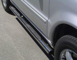 Seitenrammschutz Edelstahl DM=76mm mit Trittfläche, Mercedes ML 5-türig, 270/400 CDI Bj. 02-05