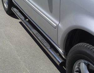 side steps stain-steel DM= 76mm with step, Mercedes ML 5-doors, 270/400 CDI My. 02-05