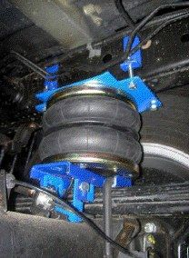 """8"""" High-level Interactive Suspension Nissan Navara D40 Pickup 4WD 09/2005-05.2015, with 8"""" Double air-bellows, for very heavy load (e.g. camper)"""