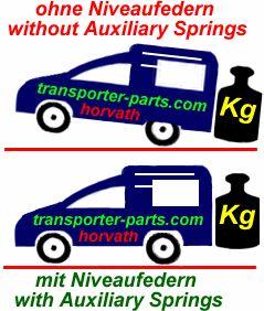 Niveauregulierungsfedern (verstärkte Spiral-Ersatzfedern) Citroen Berlingo Multispace, 2WD, kurz L1, 5- und 7-Sitzer 04/08-, auch für Modell XTR