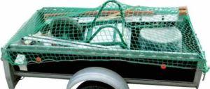 Ladungssicherungsnetz DEKRA-zertifiziert, 3.50x2.50m, Maschenweite 30 mm, Kordelstärke 3mm, verstärkter Rand, für Pickup, Anhänger, Transporter, usw.