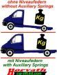 """Hochleistungs-Niveau-Luftfedern Ford Transit Bj. 01.00-14, mit 8"""" Doppelfaltenbalg-System"""