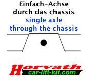 """Hochleistungs-Niveau-Luftfedern Hymer B614 / Al-Ko Chassis 01.02-01.06, mit 8"""" Doppelfaltenbalg-System"""