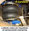 Niveau-Luftfedern Opel Movano 3500 chassis-cabine Bj. 02.98-05.10, incl. Kompressor