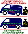 Zusatzfedern / Niveaufedern, alle VW T5 GP Bj. 11.09-06.15 / T6, T6.1, Bj. 07.15-, mit CNG Tank (Erdgas)