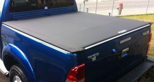 """Soft-Ladeflächenabdeckung """"speedy 2"""" schwarz, aufrollbar, Toyota Hilux 4-türig Bj. 06-15"""