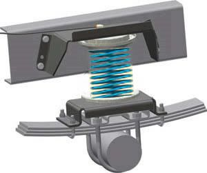 Auxiliary Springs (Helper-Springs) Opel Movano FWD My. 5.10-, for Movano with single leaf springs rear and ABS