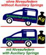 Auxiliary Springs (replacement springs) for heavy load,...