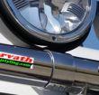 Edelstahl Styling-Scheinwerferhalterung für 51mm...