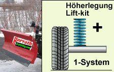 Niveauregulierungsfedern (Ersatzfedern) Höherlegung vorne +30mm, Isuzu D-Max, 4WD, Typ ATFS, 2.5 TD, Bj. 12-, bessere Optik, Ideal bei Schneepflug usw.