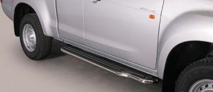 Seitenrammschutz / Trittbrett Isuzu D-Max 2-türig Space-Cap, 4WD Bj. 12-, mit Kunststoffeinlage