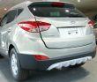 Spoiler unten / optischer Unterfahrschutz für vorne und hinten, ABS, Silber, Hyundai ix35 4WD Bj. 04.2010-