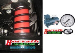 1-Kreis Hochleistungskompressor-System, manuell vom Fahrersitz einstellbar, für Zusatzluftfedern in Schraubenfedern