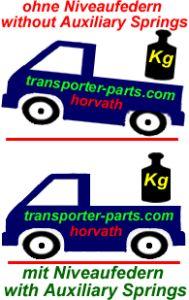 Niveauregulierungsfedern (Spiral-Zusatzfedern) Isuzu D-max, 4WD, Typ TF / 8DH, Bj. 06.06-12, für schwerer Last, nicht für Wohnkabinen