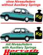 Niveauregulierungsfedern Renault Mégane Sedan M...