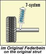 Niveauregulierungsfedern Volkswagen Golf II 19E Bj.: 09.83..07.92