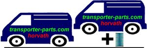 Lift kit, Auxiliary Springs +30mm, VW, Volkswagen, Van, Transporter, Pickup,  T4, 2WD, 4WD, By. 09.90-05.03