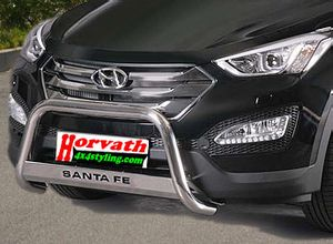 "Rammschutz Edelstahl Typ ""U2-63"" Dm= 63mm, Hyundai Santa Fe 4WD Bj. 12-, wahlweise mit Schriftzug"