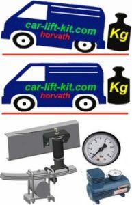 Hochleistungs-Niveau-Luftfeder, Mercedes Vito, 2WD, Typ 638, mit ABS, Transporter, Bj. 02.96-10.03, nicht für Personentransport