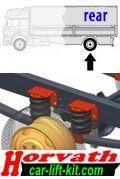 """Hochleistungs-Niveau-Luftfedern 6"""" (4 Stück Zusatzluftfedern) Renault D2.0 D-Truck, 6.5t und 7.5t, Bj. 13-, Hinterachse"""