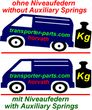 Auxiliary Springs (Helper-Springs) Volkswagen Transporter T2, Type 245, 251, 251-299, 253, 253-609, 253-299, 253-6-299, 255, not for Syncro
