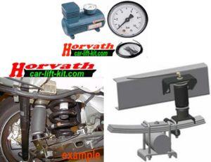 1-Kreis Hochleistungskompressor-System, manuell vom Fahrersitz einstellbar, für Rollbalg Zusatzluftfedern