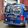 """ski- snow-board and bicycles-rear-carrier Type """"WT"""" for VW T6, My. 2015-, with rear flap, bus, Multivan, transporter"""