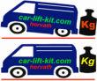 Zusatzluftfedern Ford Transit, Typ 80, 90, 100, 130, 150, 190, Bj. 1989-2000, incl. 2-Kreis Kompressor, ALB Einstellung Erforderlich