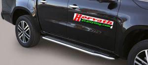 Seitenrammschutz, Trittbrett mit Rohr, DM= 50mm, Edelstahl oder Schwarz, Einlage Kunststoff, Mercedes X Klasse, Pickup, Bj. 2017-