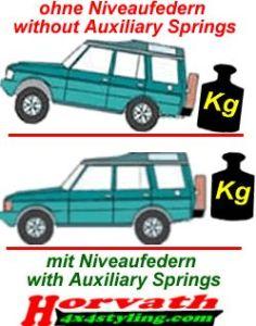 Niveauregulierungsfedern (verstärkte Ersatzfedern) Renault Kadjar, 2WD, Bj. 2015-
